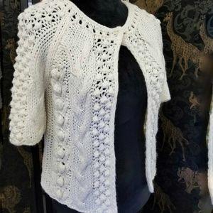 Sundance white sweater cardigan small